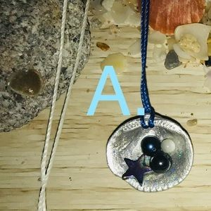 A: Authentic Seashell Dainty Necklace
